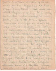 Fragment dzienniczka Barbary Bobrownickiej, spisywanego w trakcie Powstania. Zapiski te były podstawą do powojennego opracowania Pamiętnika przez Autorkę.